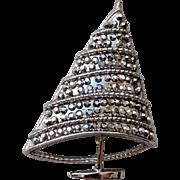 SALE BJ - Beatrix Mid-century Swarovski Crystal Christmas Tree Pin ~ Book Piece
