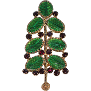 SOLD VERY RARE Freirich Signed 1965 Christmas Tree Pin ~ Book Piece
