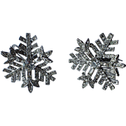 RARE Castlecliff 1950's 3D Snowflake Earrings ~ Pristine