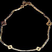 """SALE Italy 14K Gold Vintage 1970's Large Bracelet or Anklet, 8.5"""" L"""