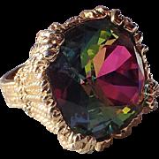 RARE Napier 1965 Watermelon Hope Diamond Cocktail Ring, Book Piece