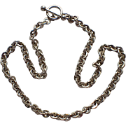 """SALE Martha's Vineyard Sterling Silver Link Toggle Clasp 18"""" Necklace"""