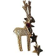 RARE Ultracraft Reindeer Christmas Pin