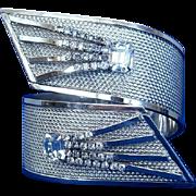 Vargas 1960's Shooting Star Deco-Style Wrap Clamper Bracelet, RARE