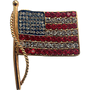 Kenneth Jay Lane KJL American US Flag Pin/Pendant