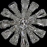 Weiss 1950's Keystone Rhinestone Starburst Brooch