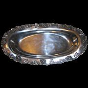 Antique L.A. Littlefield Quadruple Silverplate Grapevine Oval Tray