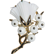 RARE Trifari 1953 Alfred Philippe Patented Beaux Belles Flower Brooch