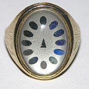 SALE 1960's Dial Face Mood Ring ~ Size 7.5 ~ Works!