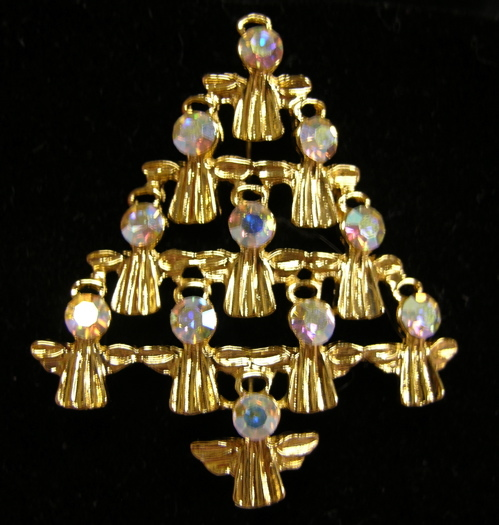 JJ Angels of Light Christmas Tree Pin ~ Book Piece