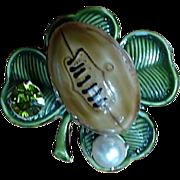 Original by Robert Fighting Irish Football 3D Shamrock Pin
