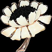 Har Signed 1950's Lotus Flower Figural Brooch
