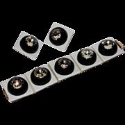 REDUCED SCARCE Vendome 1967 Space Age Bracelet, Earrings, Vogue Cover Set
