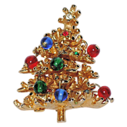 Petite 3D Glass Ornaments Christmas Tree Pin