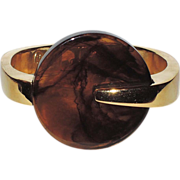 SALE Trifari 1970's Kunio Matsumoto Signed Clamper Bracelet