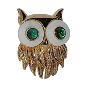 REDUCED RARE Boucher 1964 Figural OWL Brooch