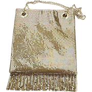 SALE PENDING Whiting & Davis 1970's Gold Mesh Fringe Purse ~ Near Mint