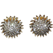 REDUCED Castlecliff 1960's Fireworks Starburst 3D Domed Earrings
