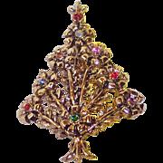 SALE Beatrix Pom Pom Christmas Tree Pin ~ Book Piece