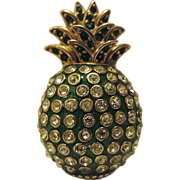 Ciner Signed Pineapple Fruit Figural Brooch