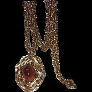 REDUCED Napier 1973 Eugene Bertolli Modernist Pendant Necklace ~ Book Piece