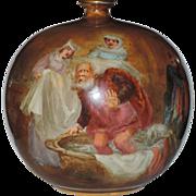 Doulton Burslem Turn of the Century Merry Wives of Windsor Spherical Vase ~ W. Nunn Artist Signed ~ VERY RARE
