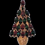 REDUCED Napier Topiary Christmas Tree Pin ~ Book Piece