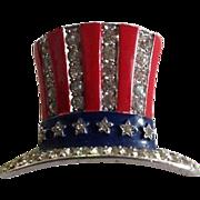 SALE Trifari 1940 Uncle Sam Hat Pin ~ Madeleine Albright