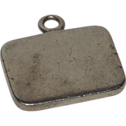 Napier Sterling Silver Tag Pendant ~ Ready to Engrave