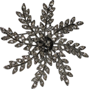 SALE PENDING Sarah Coventry 1960's Evening Snowflake Brooch ~ Book Piece