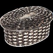 Taxco Sterling Woven Basket Trinket, Pill, Jewelry Box