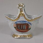 SALE Souvenir Porcelain Basket