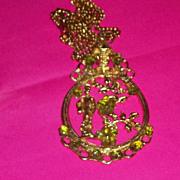 Vintage Oriental Unsigned Swoboda Geisha Girl Necklace Pendant Big Bold Fun