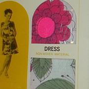 Rare Old Stock New in Box Vintage Mad Men Era Mid Century Modern Mod PAPER Dress Dead Stock