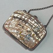 ANTIQUE Victorian Steampunk Purse Mother of Pearl Columbian Exposition 1800's