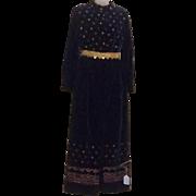 True Vintage RARE Mod Maxi Dress Skirt Hot Pants Jumpsuit Velvet Designer BOHO 70's ...