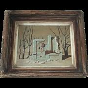 Surrealist Listed Artist John Atherton (1900-1952)  MAGIC REALIST Surrealism Signed Original .