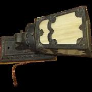 True Antique Vintage mission period slag light wall lamp rare estate