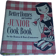 True vintage mid century Better Homes Junior Cookbook scarce 50's FIRST EDITION 1955