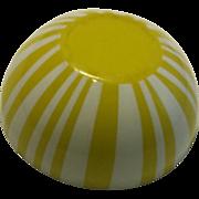 Tru Vintage Mid Century Modern Cathrineholm Holm yellow striped granite mixing bowl