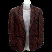 Tru Vintage 50's 60's Silk Chinese Tuxedo Smoking Jacket estate