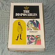 True Vintage 60's Paper Raincoat Coat RARE Mod Old stock new in box