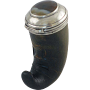 Scottish Snuff Mull – Snuff Box – Silver & Agate – C 1790