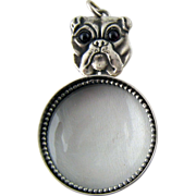 Vintage Sterling Silver Figural Bulldog Magnifying Glass – Loupe