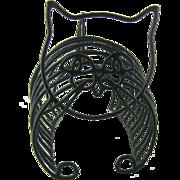 SALE Mid Century Wire Cat Figural Magazine Rack