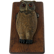 SOLD Figural Cold Painted Owl Paperclip – Circa 1900