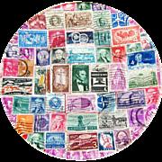 Vintage Decoupage Postage Stamp Plate - C  1959