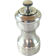 SALE Sterling Silver Pepper Grinder Mill -  American c. 1950