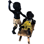 SALE Vienna Bronze Black Girl & Boy Spanking – c 1900