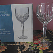 SALE PENDING 16 WATERFORD Marquis Brookside Wine Water Glass Set